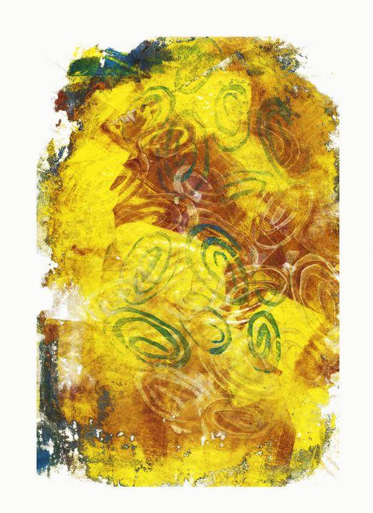 abstract art mixed media print No 70 - Malgorzata Hincza