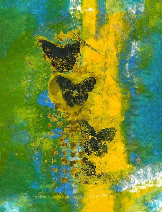 abstract art mixed media print No 77 - Malgorzata Hincza