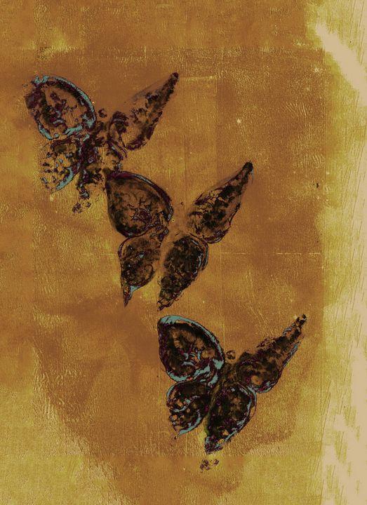 abstract art mixed media print No 78 - Malgorzata Hincza