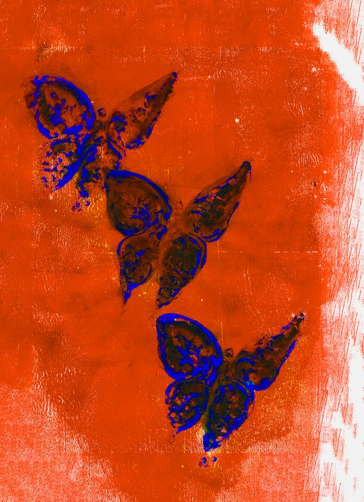 abstract art mixed media print No 79 - Malgorzata Hincza