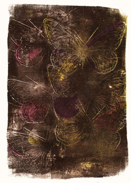 abstract art mixed media print No 80 - Malgorzata Hincza