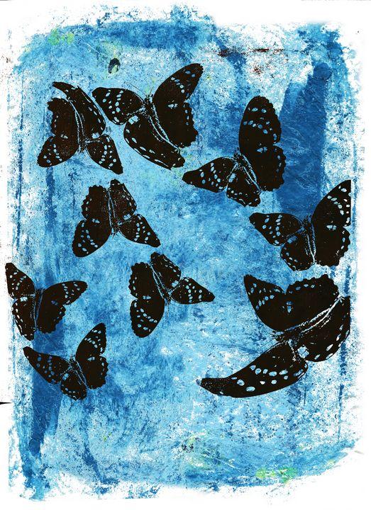 abstract art mixed media print No 82 - Malgorzata Hincza