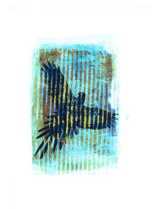 abstract art mixed media print No 94 - Malgorzata Hincza