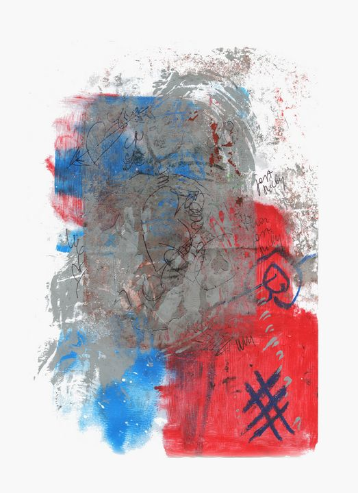 abstract art mixed media print No 95 - Malgorzata Hincza