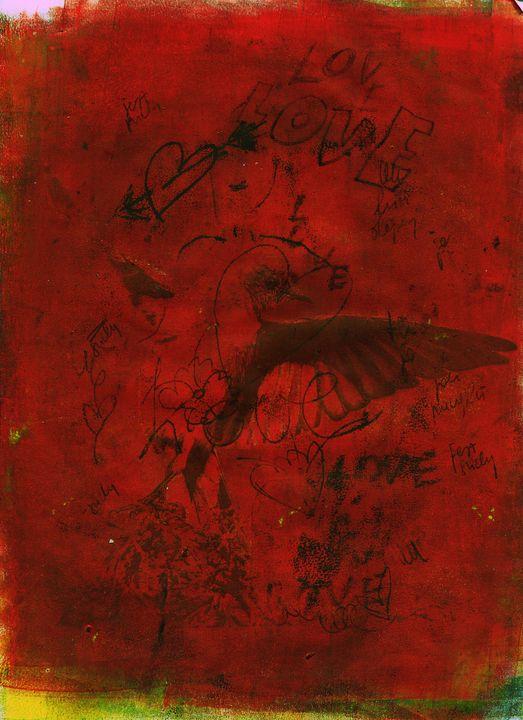 abstract art mixed media print No 96 - Malgorzata Hincza