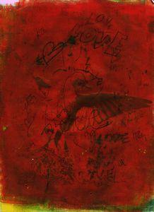 abstract art mixed media print No 96