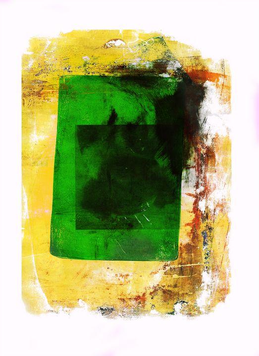 abstract art mixed media print No 97 - Malgorzata Hincza