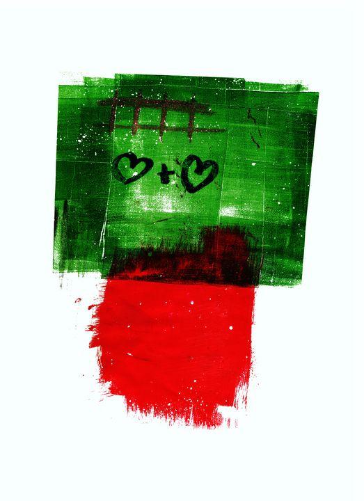 abstract art mixed media print N 100 - Malgorzata Hincza