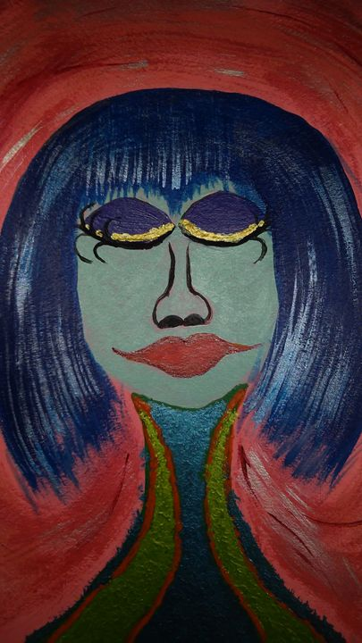 Blue hair - Tracie Maciotok