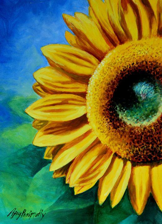 Sunflower in blue sky - Ajayparippally