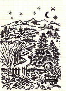 cross stitch  forest