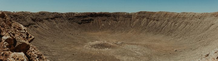 Pano of Meteor Crater - Anita McLeod Photography