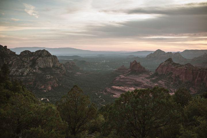 Overlooking Sedona Arizona - Anita McLeod Photography