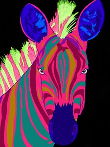 Colorful Zebra - Artful Lease