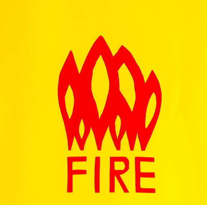 the writing fire with flames - daniele mattioda