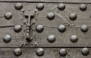 particular of the door of a castle