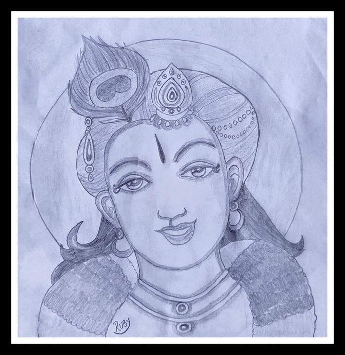 Lord Krishna - Ruby
