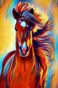 Horse Fantasy - DR Mustain Art