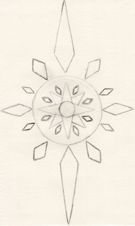 Crystal Compass (Uncolored) - Wolfe