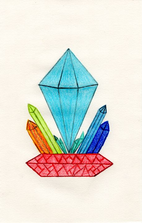 Crystal Formation Pedestal (colored) - Wolfe