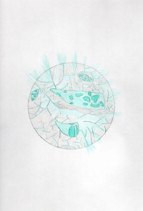Crystal Geode Sphere - Wolfe