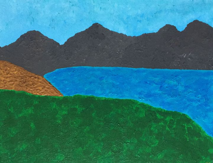 Mountains near the Lake - GI ART
