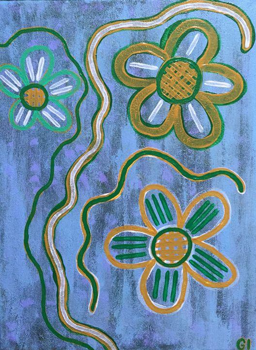 Three flowers - GI ART