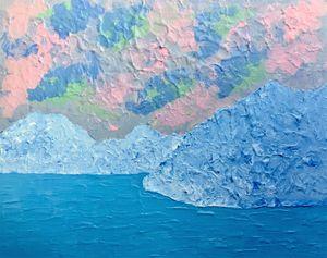 Mother-of-pearl landscape