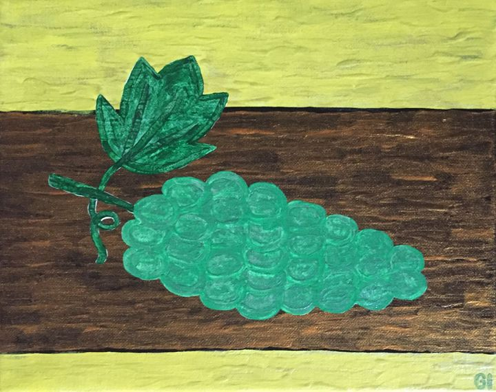 Grapes on the table - GI ART