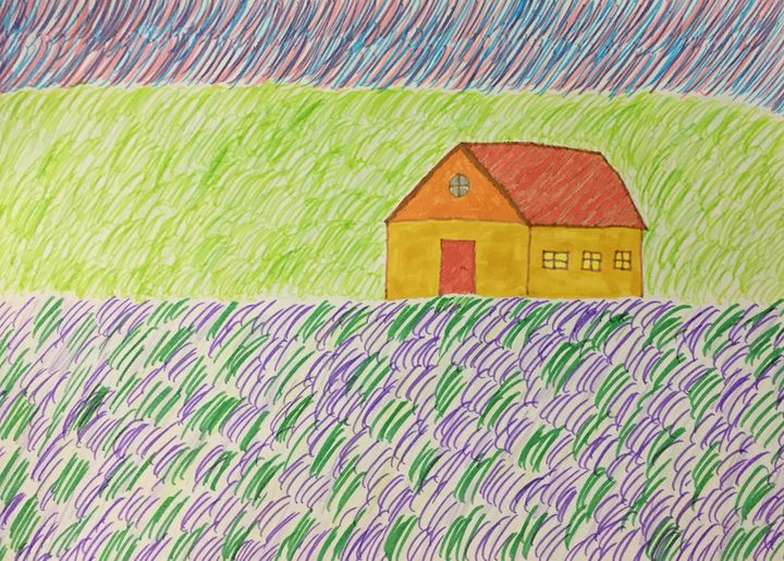 Landscape with lavender - Giart