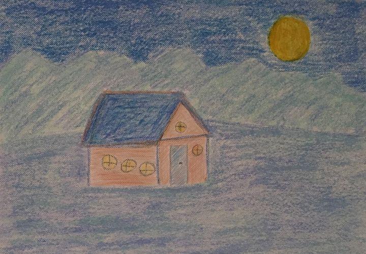 Moon over the house - GI ART