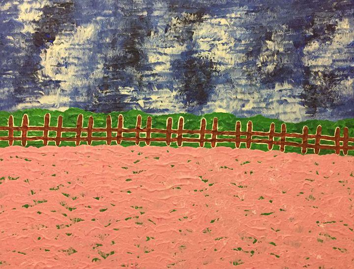 Thunderstorm over the a flower field - GI ART