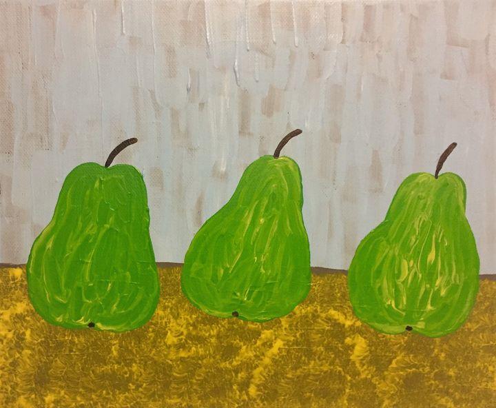 Three pears on the table - GI ART