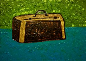 Suitcase on the table