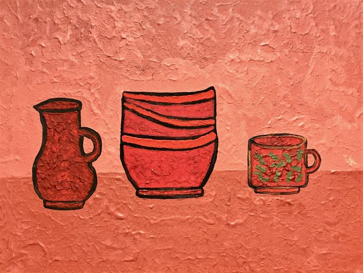 Still life with dishes - Giart