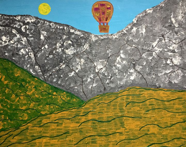 Landscape with a balloon - Giart