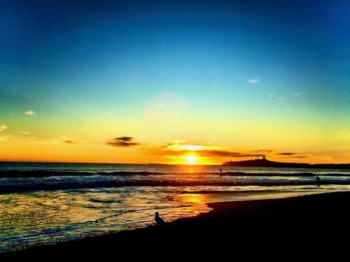 Sunset, Princeton Jetty California - Sara Anne Love