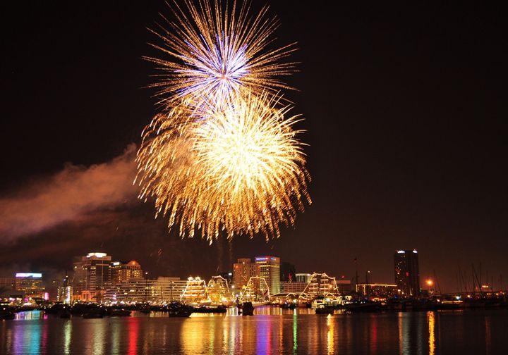 Harborfest Fireworks - Ben Salomonsky Photographic Designs