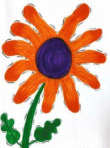 Ombre Orange Flower