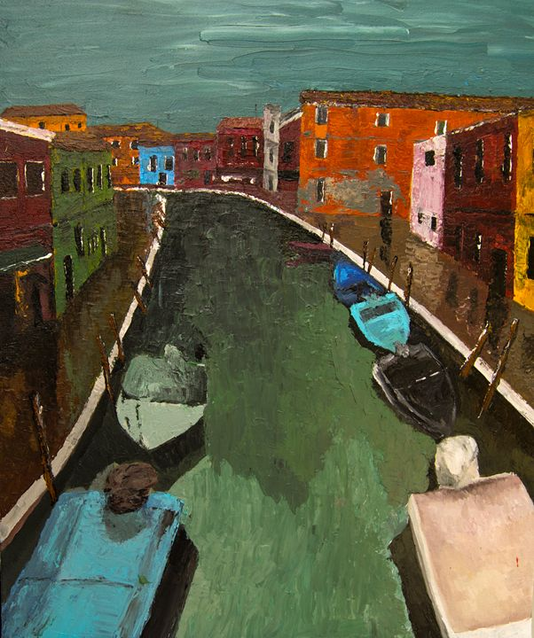 Burano in the Rain - Creations from Europe by TA Mabry