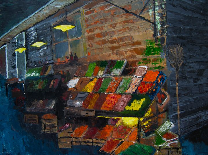 Sienna Fruit Market - Creations from Europe by TA Mabry