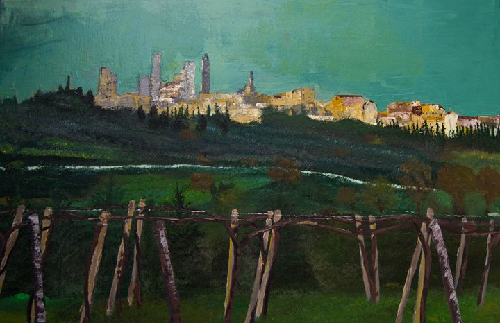 San Gimignano From the Vineyard - Creations from Europe by TA Mabry