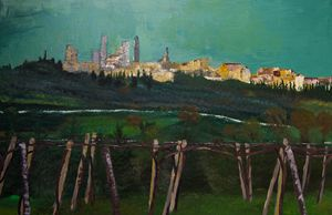 San Gimignano From the Vineyard