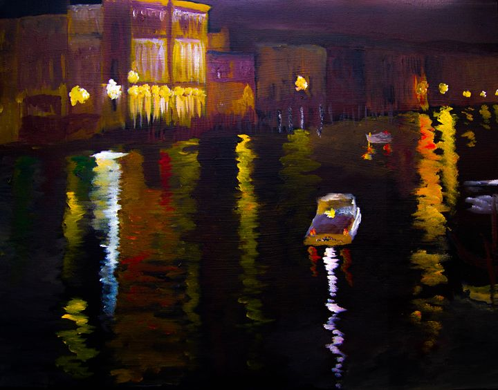 Venice nights from Rialto - Creations from Europe by TA Mabry