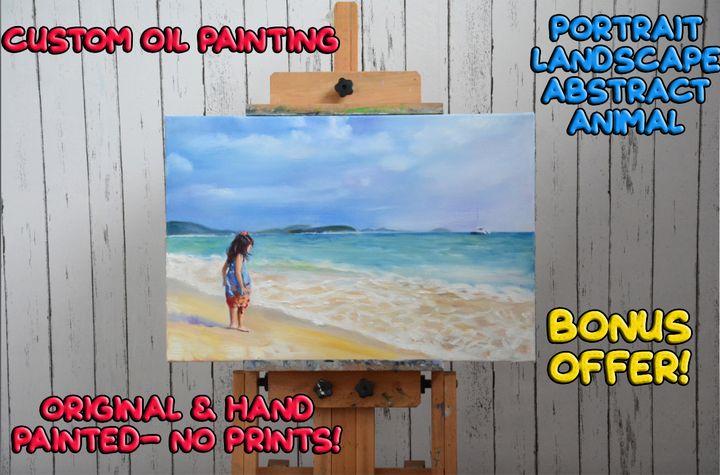 Custom Original Oil Painting - Daisy Tammy