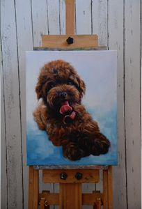 Dog Puppy Animal Custom Painting
