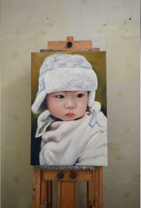 Baby Portrait Custom Oil Painting