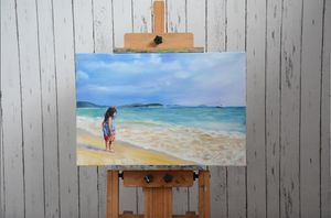 Landscape Custom Oil Painting Beach