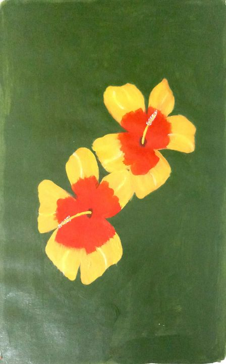Hibiscus flower paint - Ramyasree