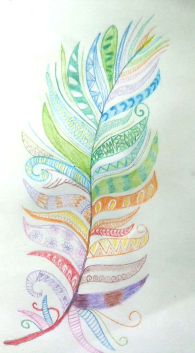 Colourful Feather - Ramyasree